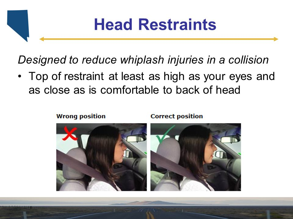 Head Restraints Designed to reduce whiplash injuries in a collision