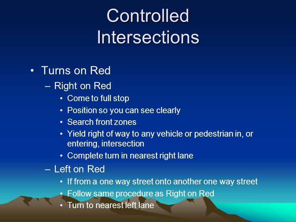 Controlled Intersections