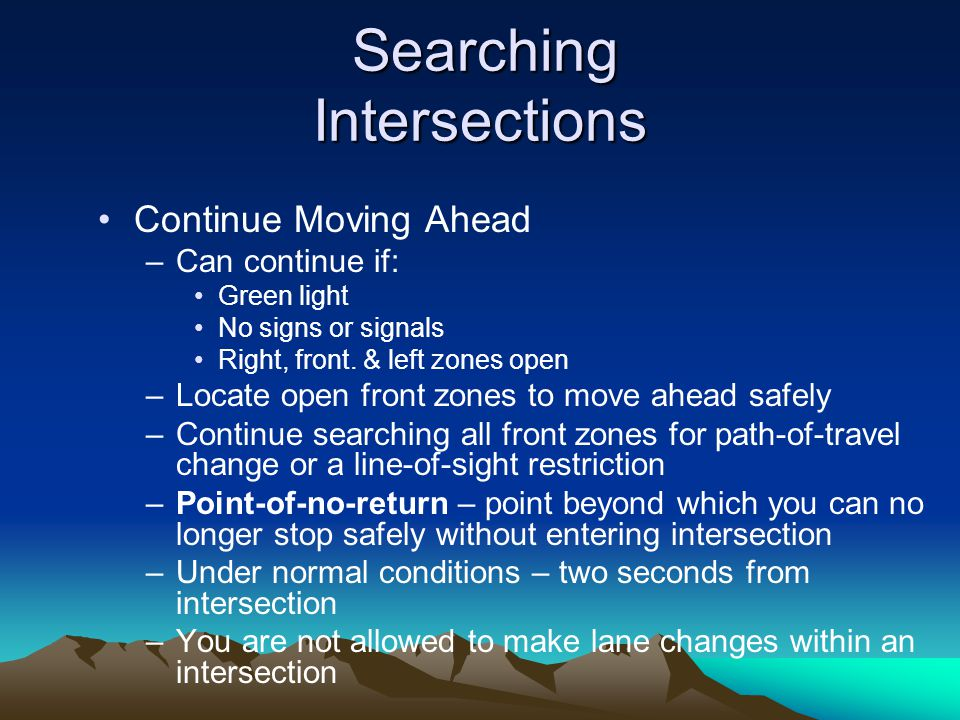 Searching Intersections