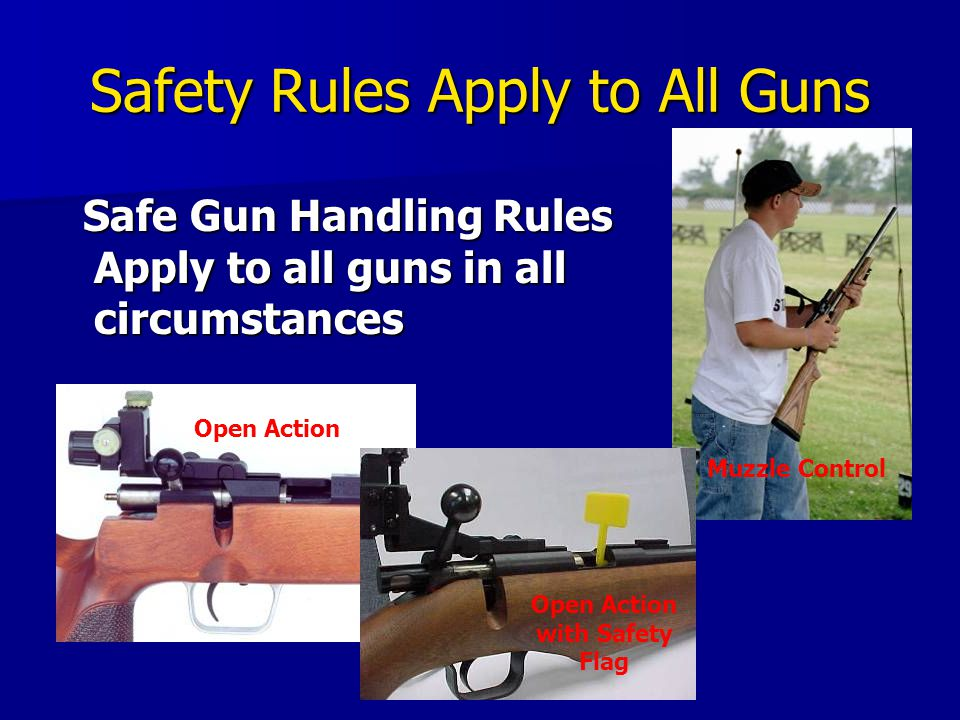 Safety Rules Apply to All Guns