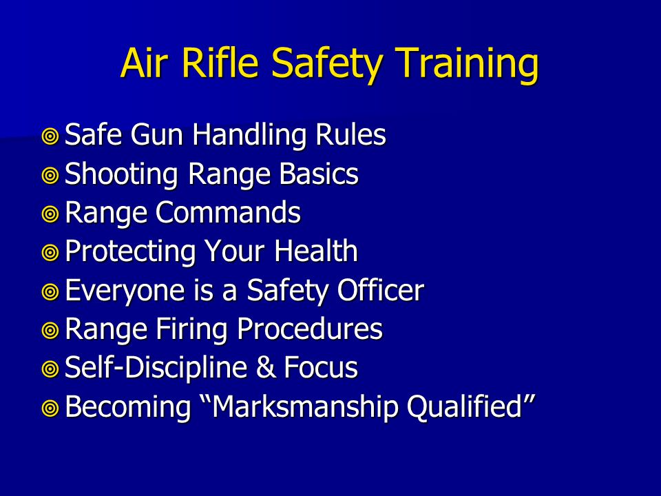 Air Rifle Safety Training