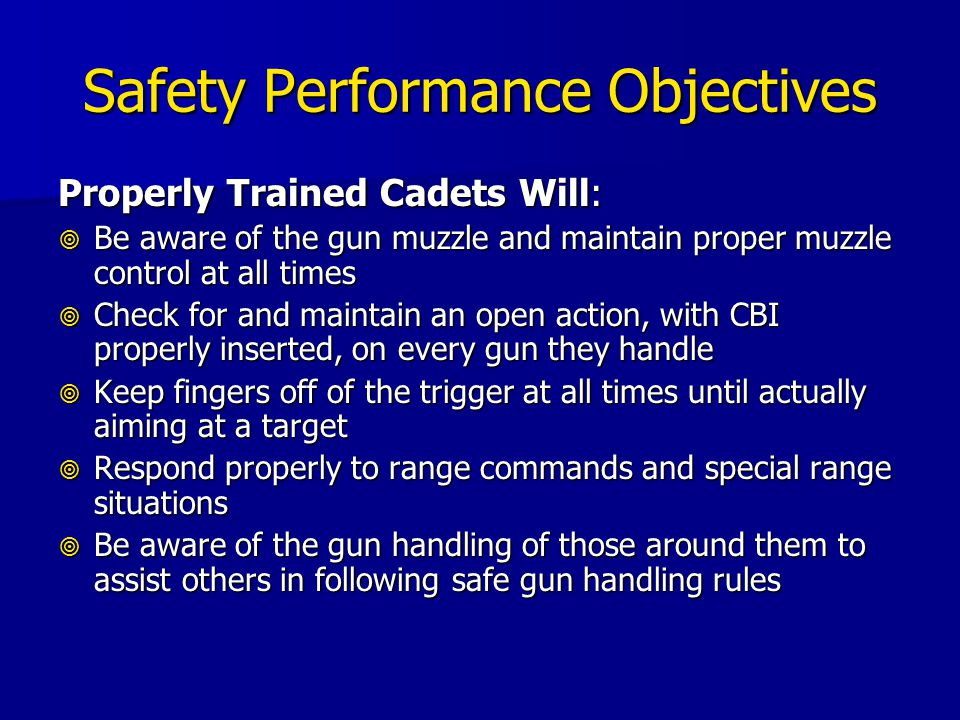 Safety Performance Objectives