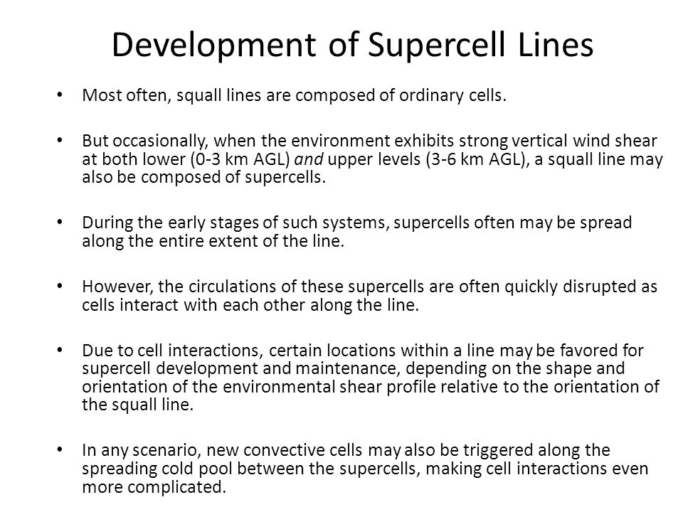 Development of Supercell Lines
