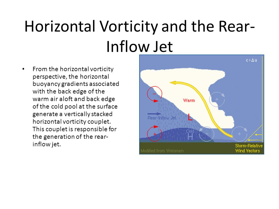 Horizontal Vorticity and the Rear-Inflow Jet
