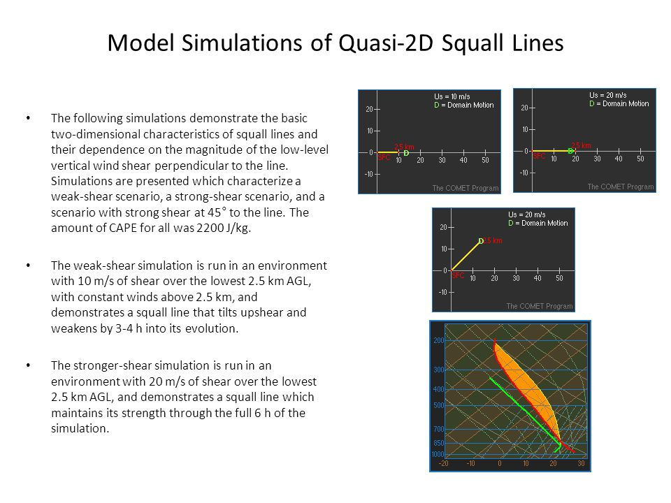 Model Simulations of Quasi-2D Squall Lines