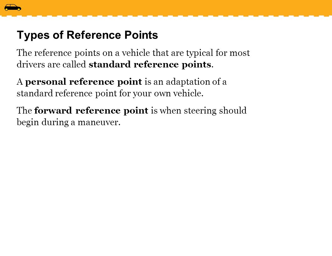Types of Reference Points