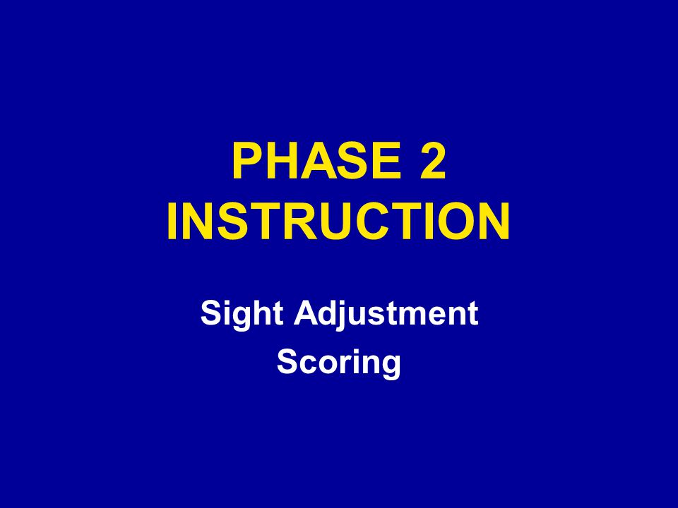 Sight Adjustment Scoring