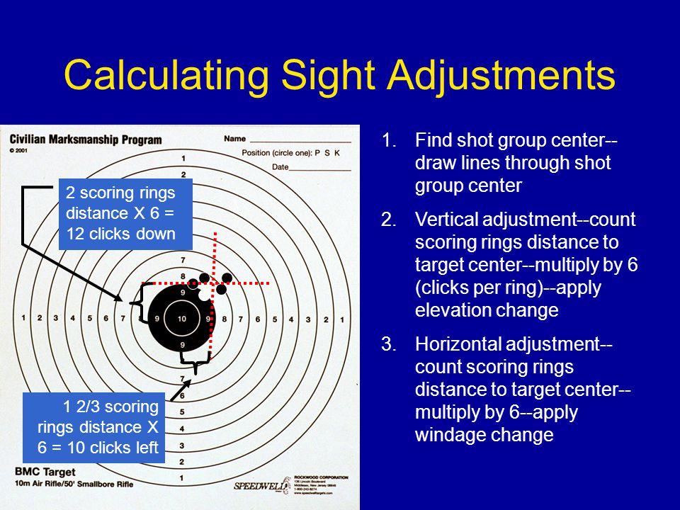 Calculating Sight Adjustments