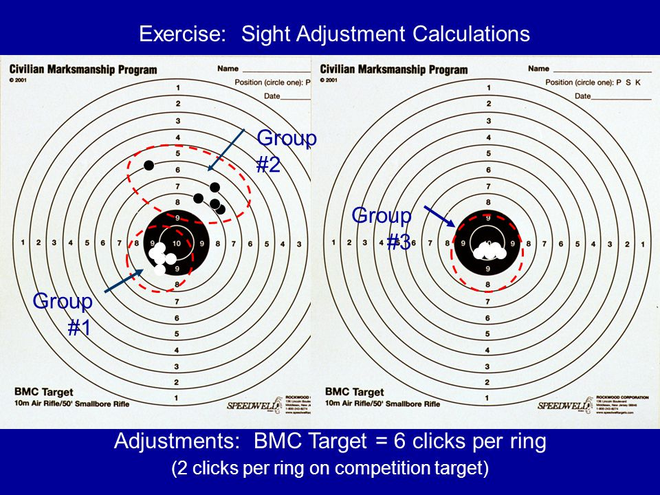 Exercise: Sight Adjustment Calculations