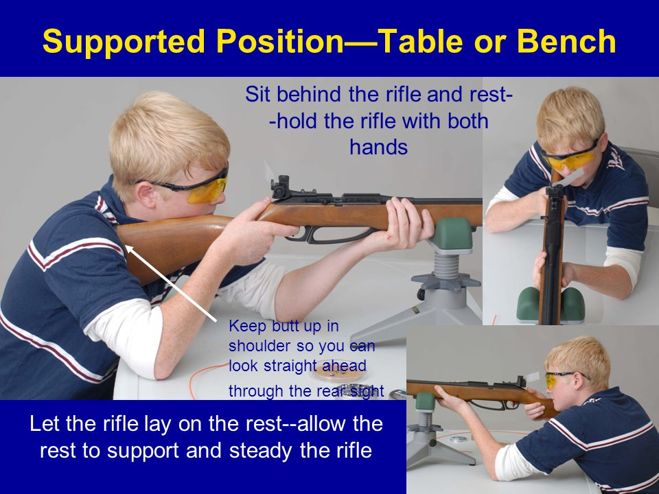Supported Position—Table or Bench
