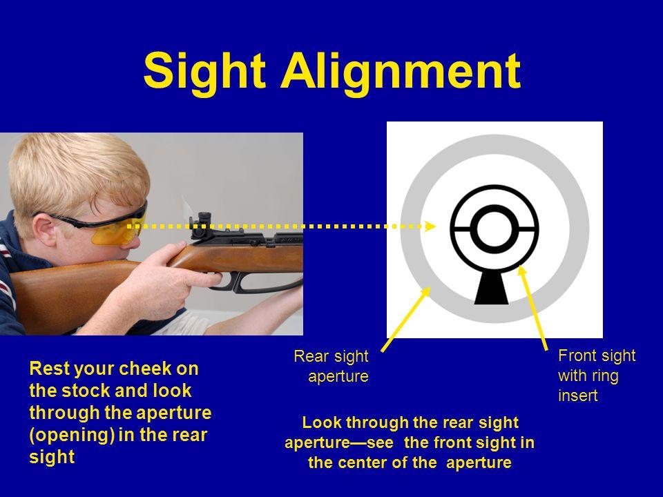 Sight Alignment Rear sight aperture. 7A.5 Sight Alignment: