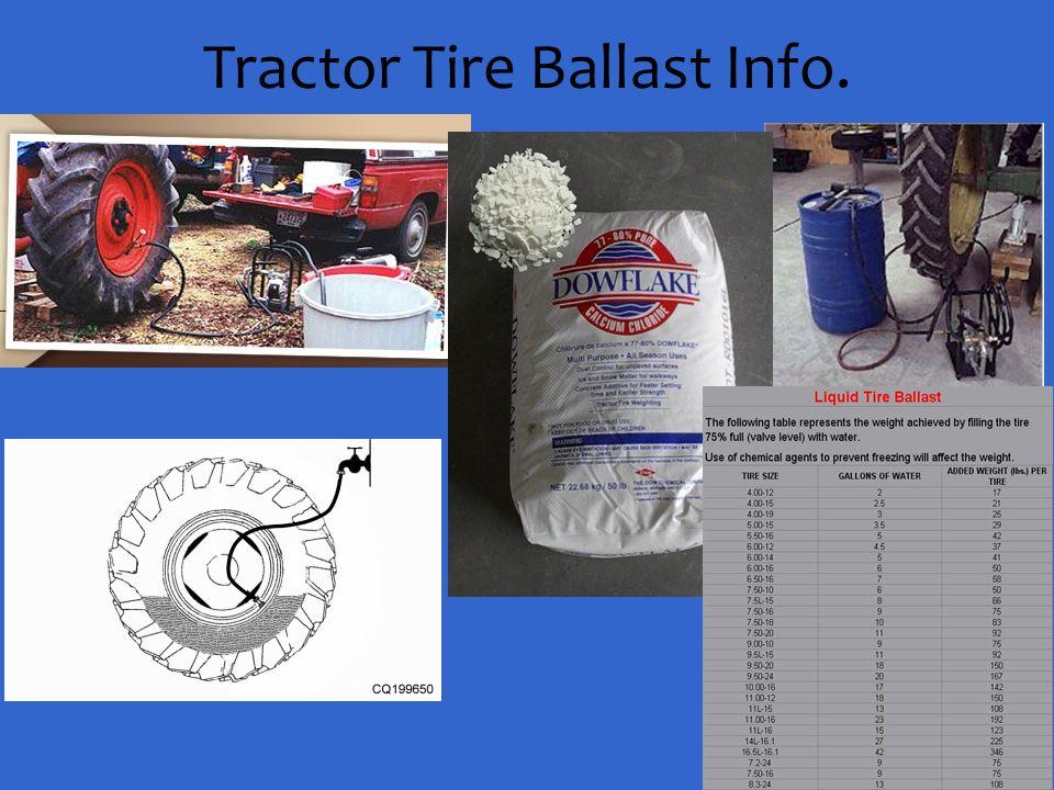 Tractor Tire Ballast Info.