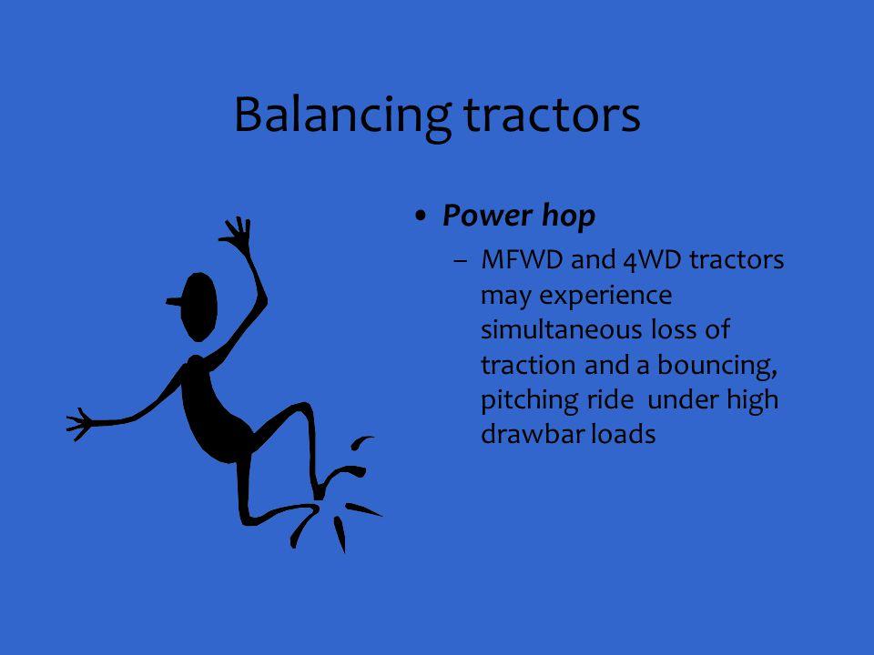 Balancing tractors Power hop