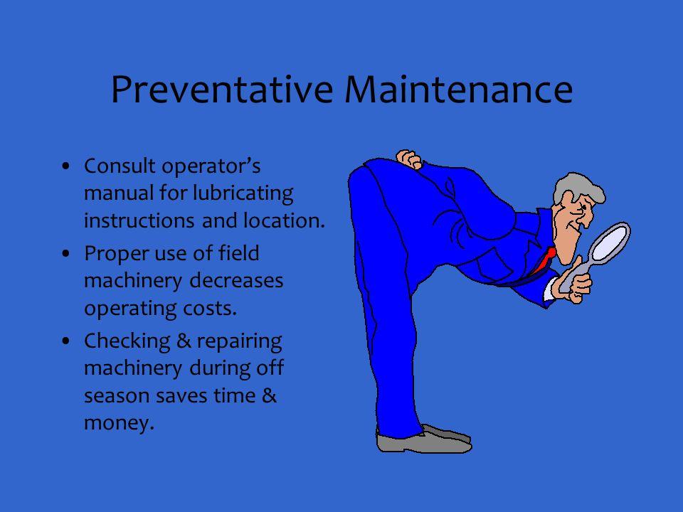 Preventative Maintenance