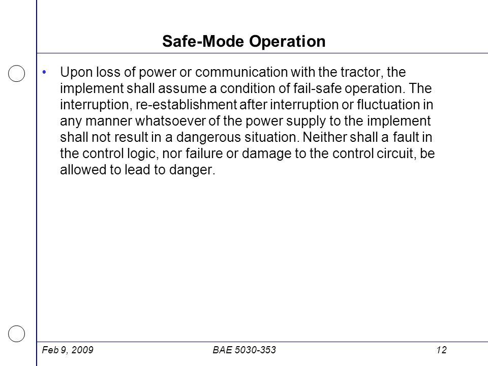 Safe-Mode Operation