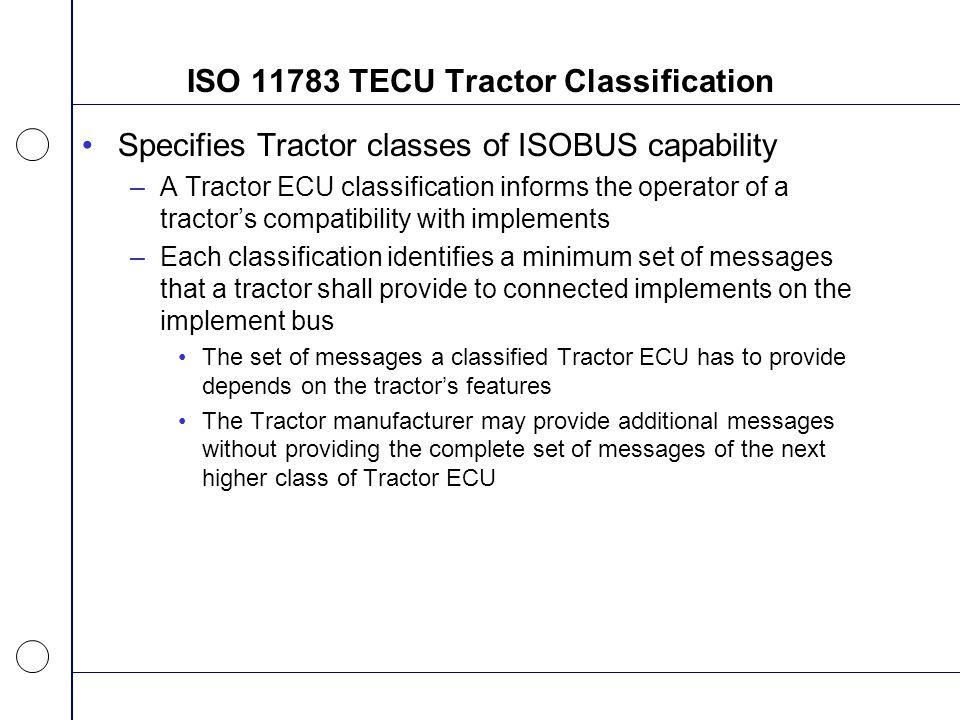 ISO 11783 TECU Tractor Classification