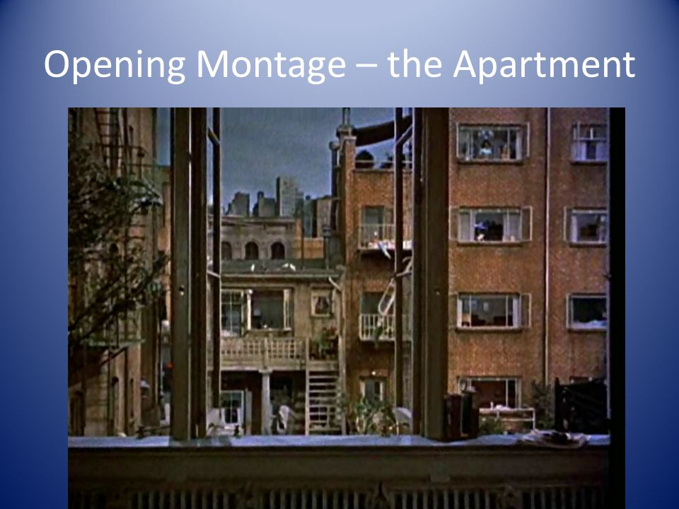 Opening Montage – the Apartment
