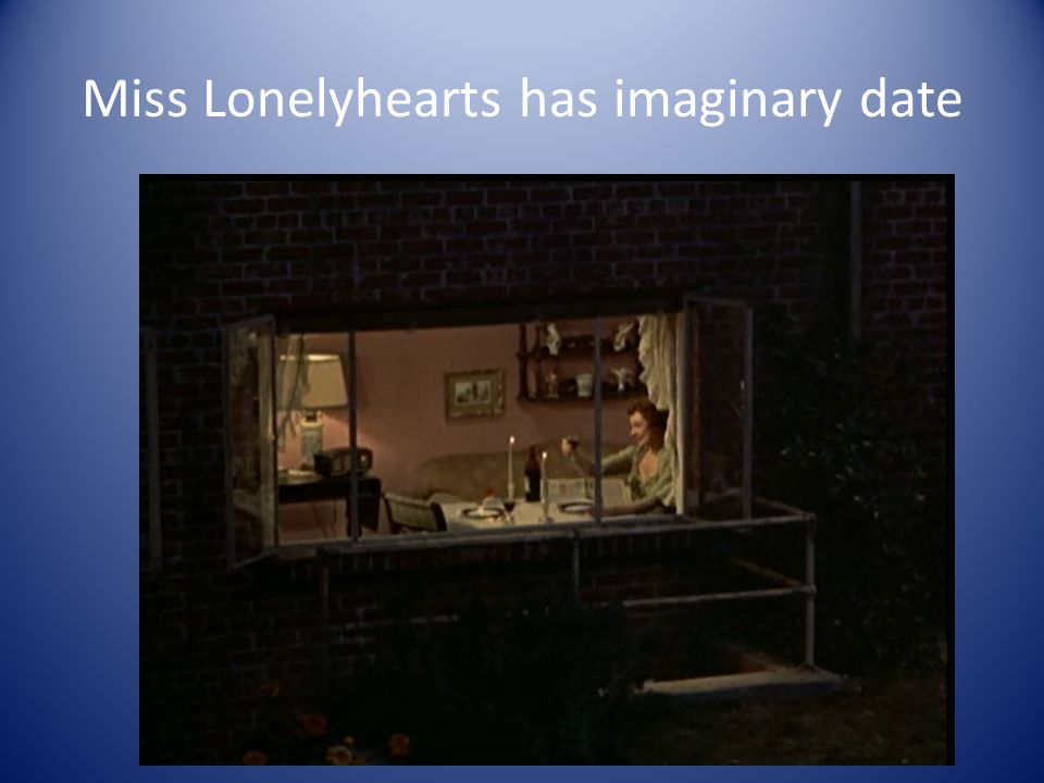 Miss Lonelyhearts has imaginary date