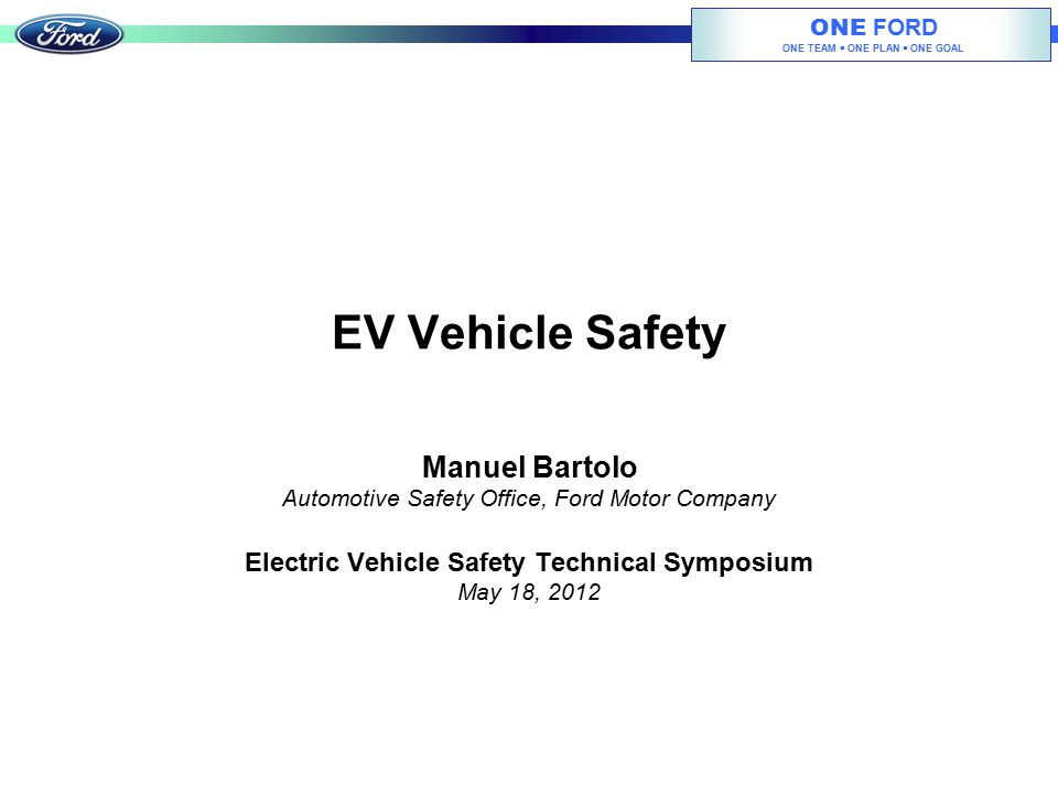 Electric Vehicle Safety Technical Symposium