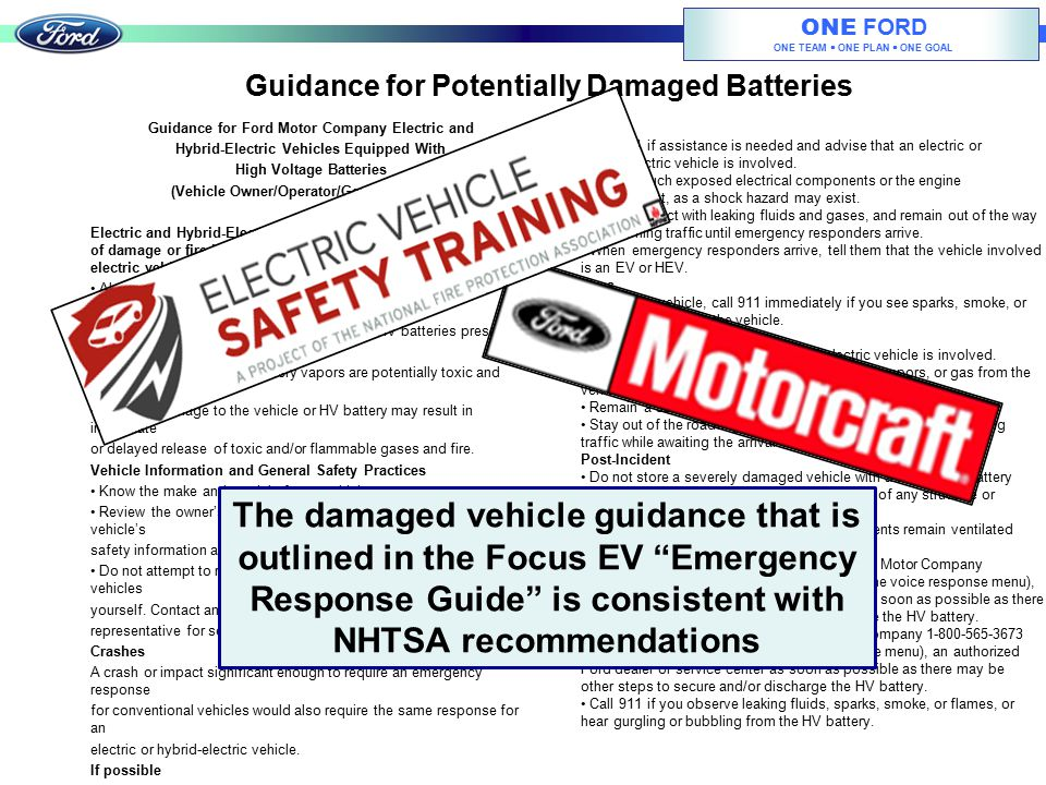 Guidance for Potentially Damaged Batteries