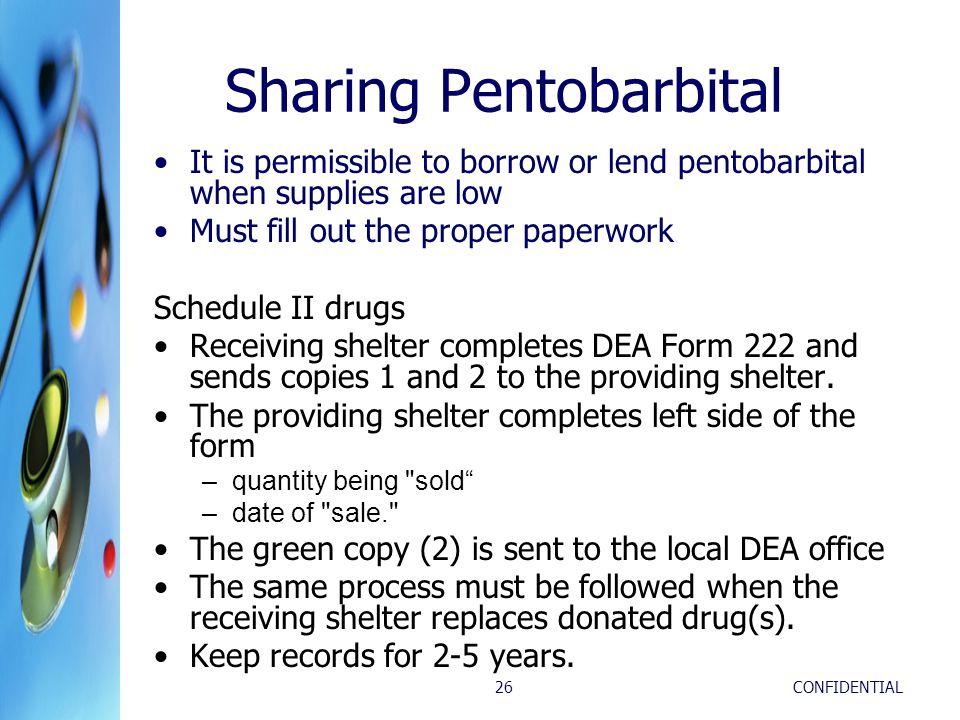 Sharing Pentobarbital