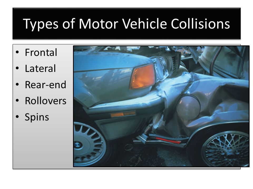 Types of Motor Vehicle Collisions