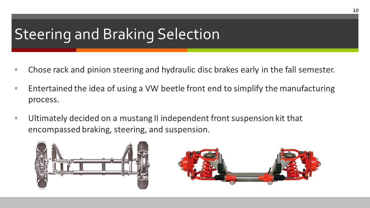 Steering and Braking Selection