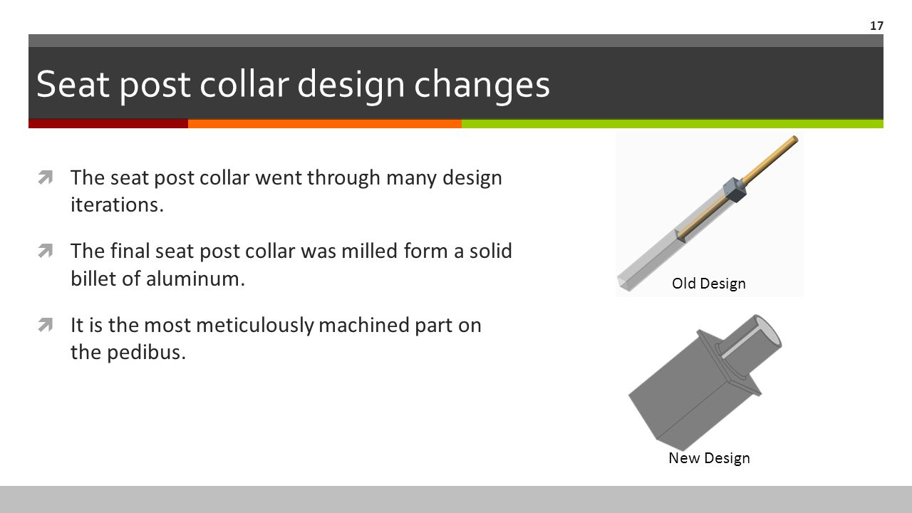 Seat post collar design changes