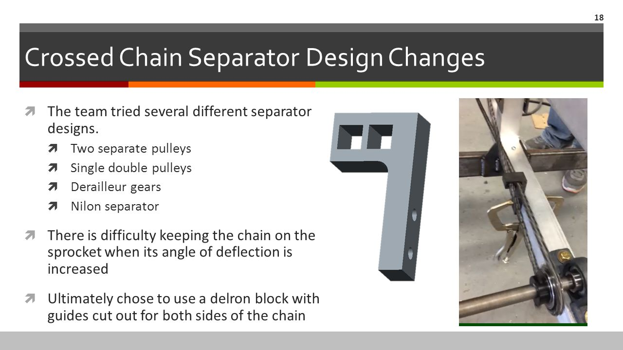 Crossed Chain Separator Design Changes