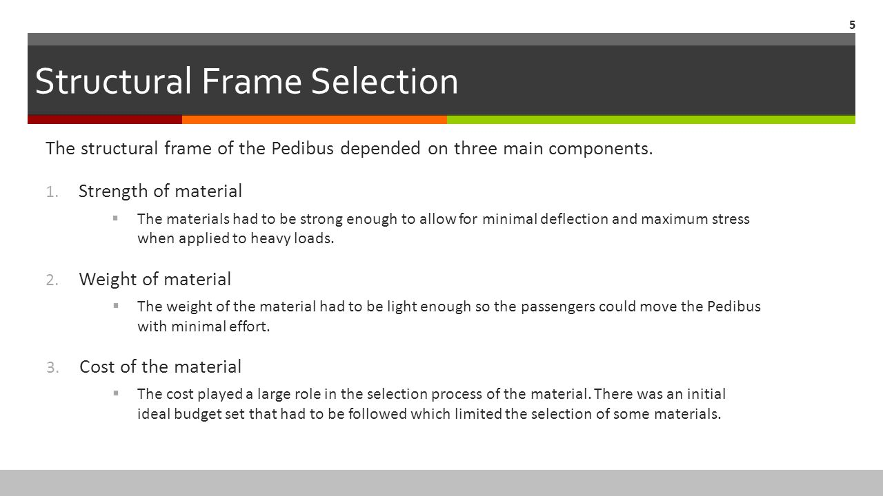 Structural Frame Selection