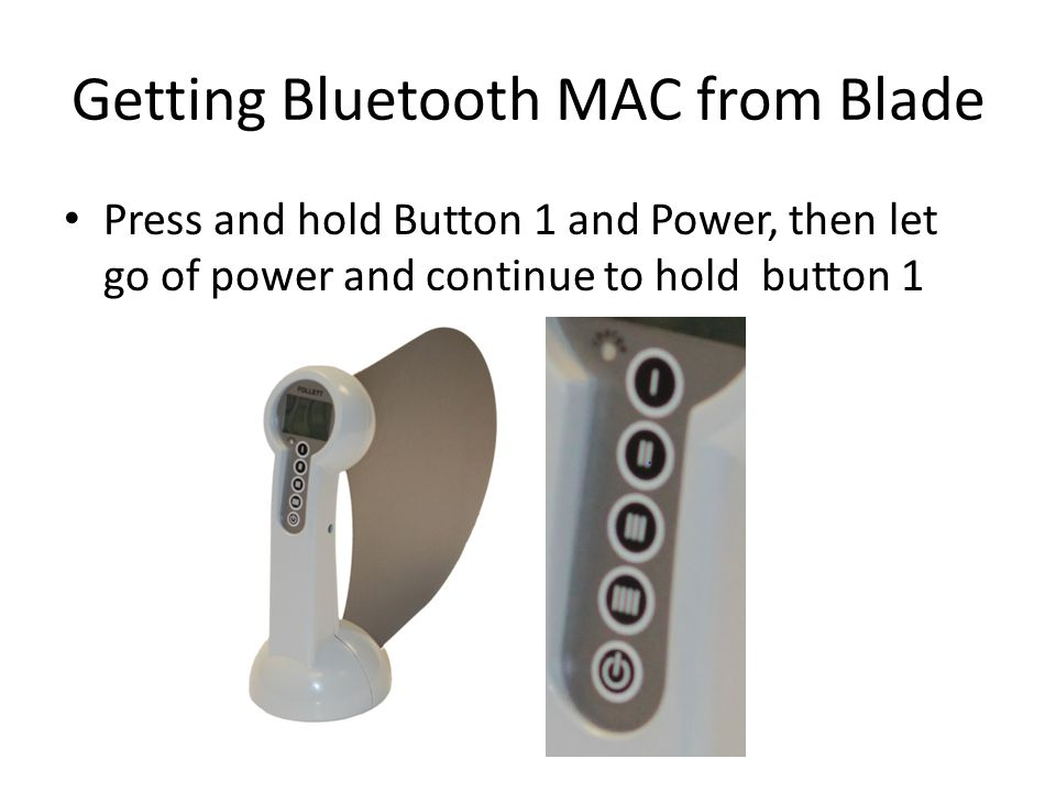 Getting Bluetooth MAC from Blade
