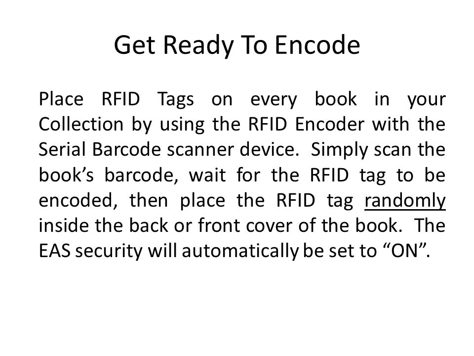 Get Ready To Encode