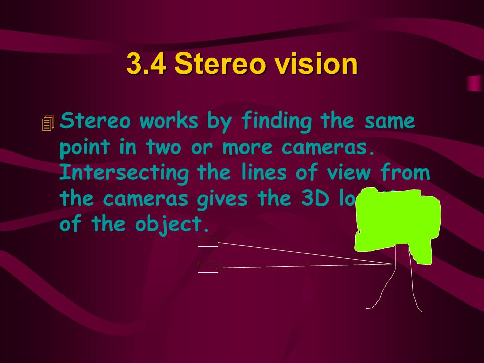 3.4 Stereo vision