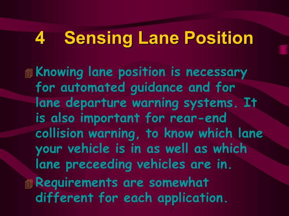 4 Sensing Lane Position