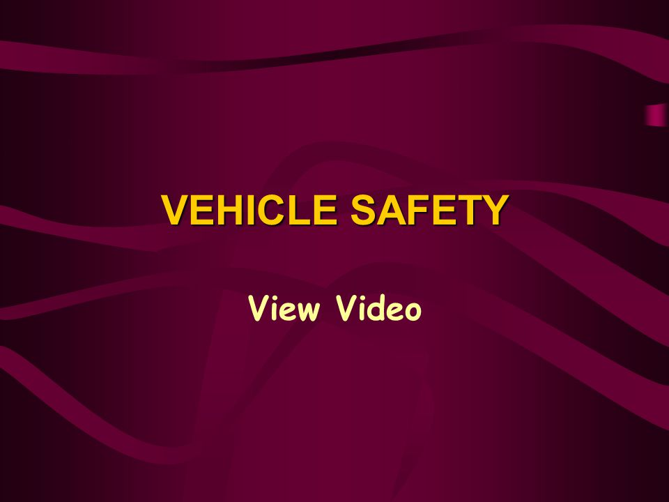 VEHICLE SAFETY View Video View Video: Vehicle Safety