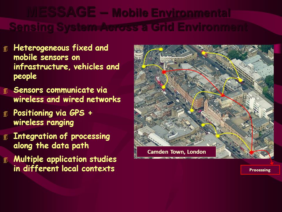 MESSAGE – Mobile Environmental Sensing System Across a Grid Environment