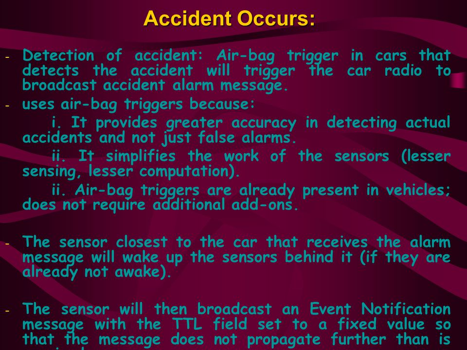 Accident Occurs: