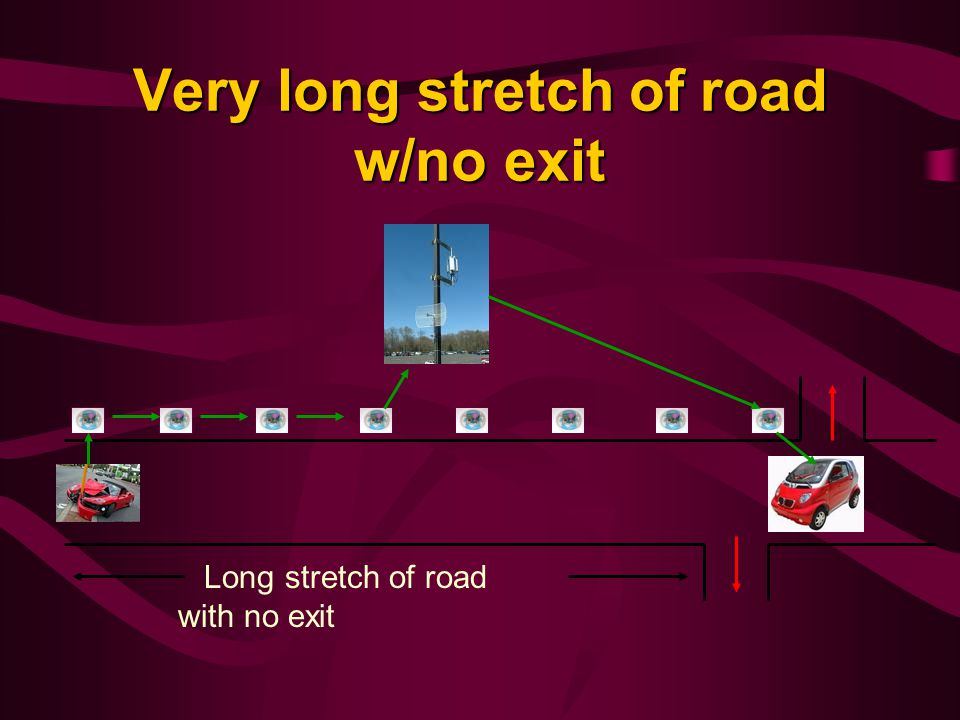 Very long stretch of road w/no exit