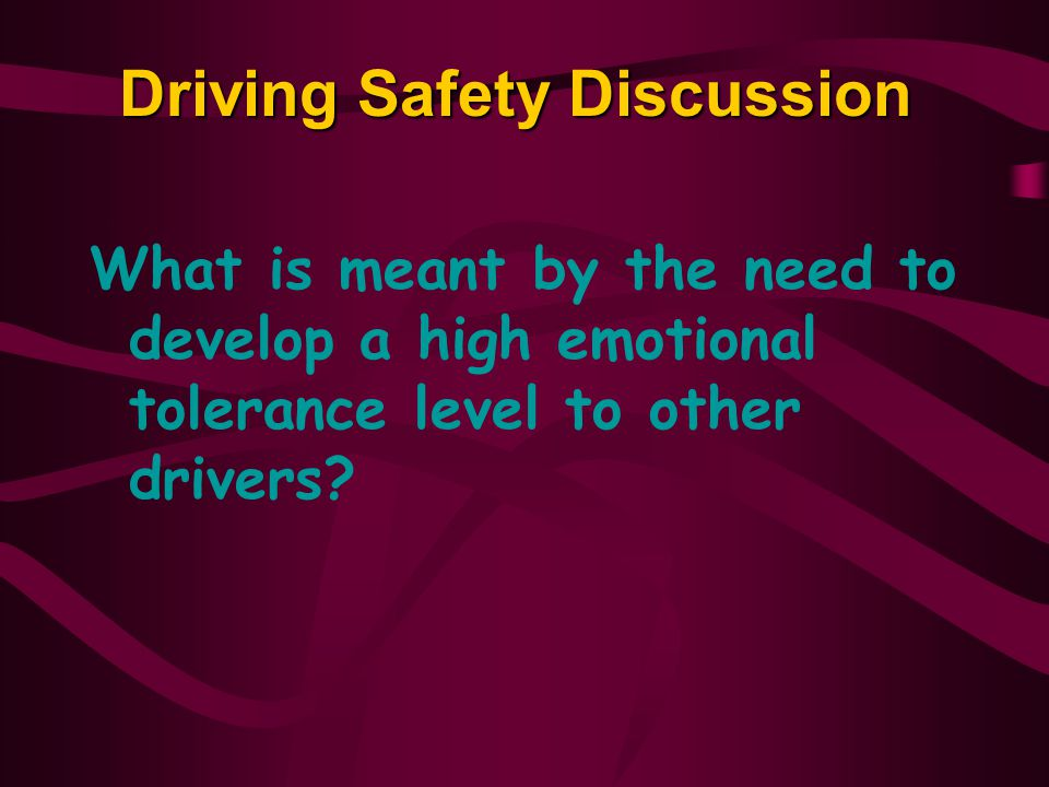 Driving Safety Discussion