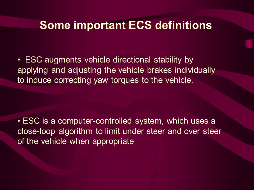 Some important ECS definitions