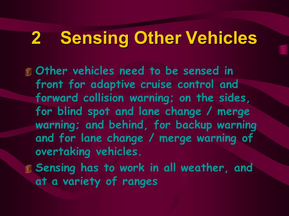 2 Sensing Other Vehicles
