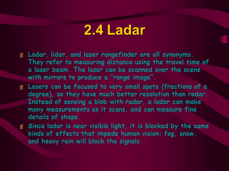 2.4 Ladar