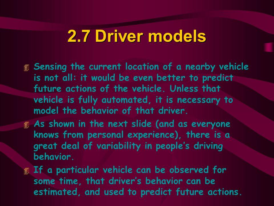 2.7 Driver models