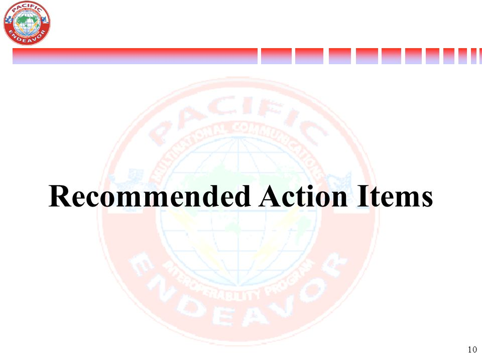 Recommended Action Items
