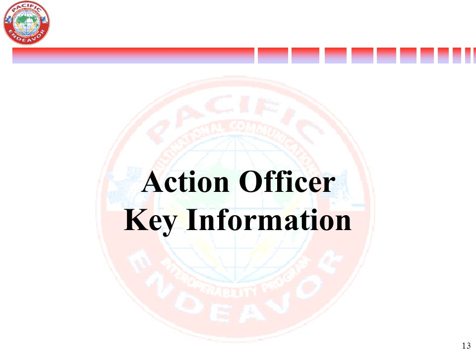 Action Officer Key Information