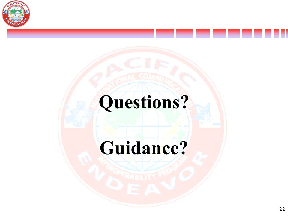 Questions Guidance 22