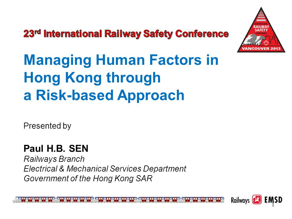 Managing Human Factors in Hong Kong through a Risk-based Approach