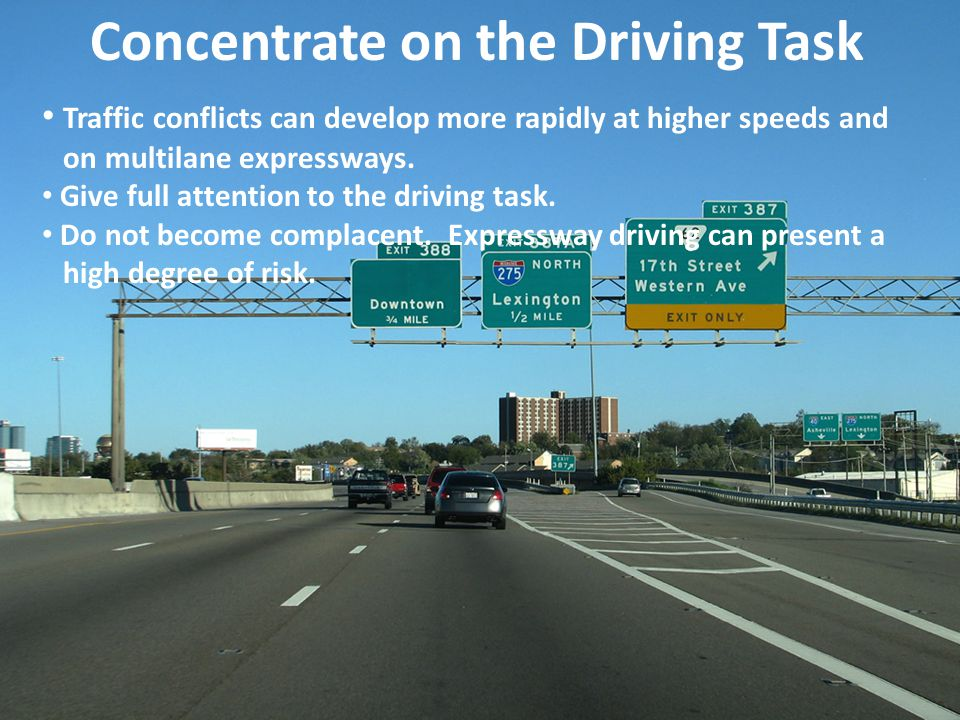 Concentrate on the Driving Task