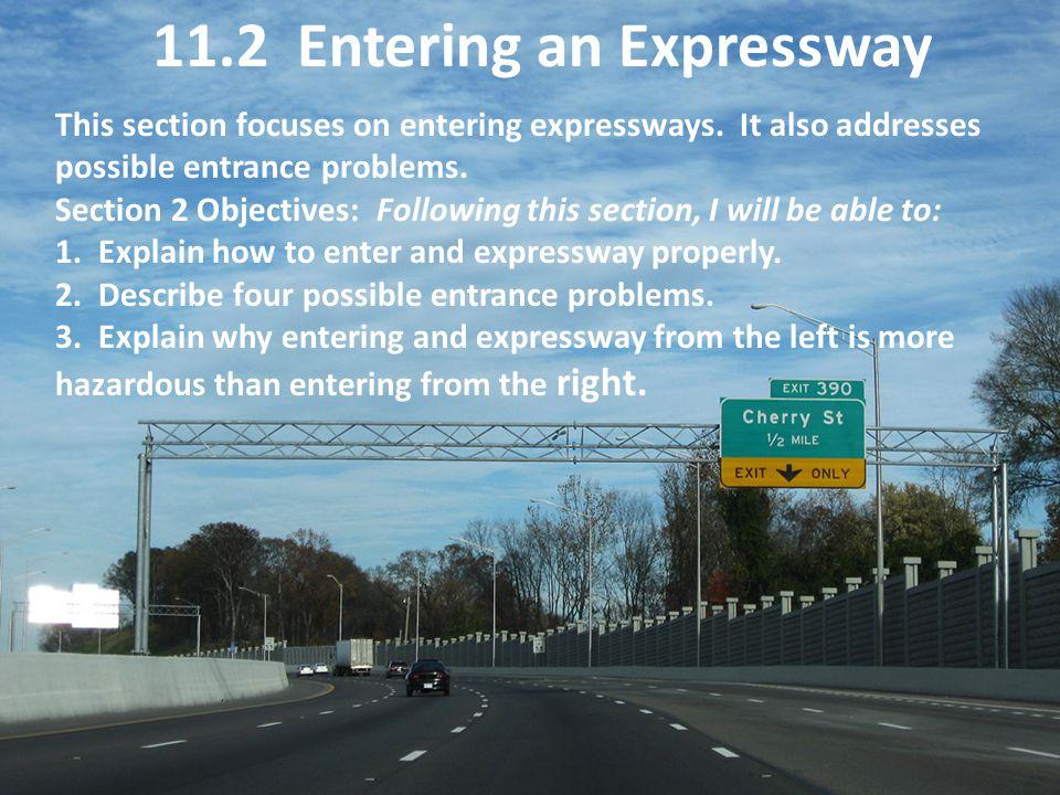 11.2 Entering an Expressway