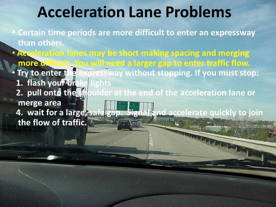 Acceleration Lane Problems
